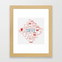 Coffee Tools Framed Art Print