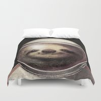 sloth Duvet Covers featuring Space Sloth  by Eric Fan