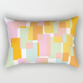 Pastel Geometric Shape Collage Rectangular Pillow
