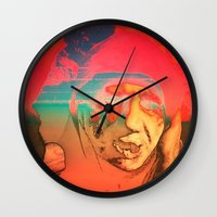 sci fi Wall Clocks featuring Lo-Fi Sci-Fi by potpourrri