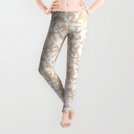 Small Spots - White and Pastel Brown Leggings