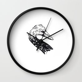 Cherry Swan Wall Clock