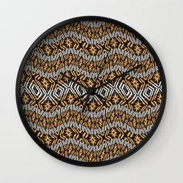 Modern Wavy Geometric Pattern Wall Clock