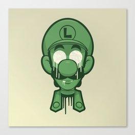 Mirrored Luigi Canvas Print