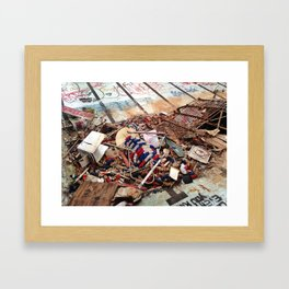 Garbage Framed Art Print
