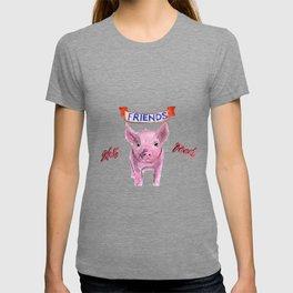 Friends, not food. (vegan pig watercolor) - prints/clothing/wall tapestry/coffee mug/home decor T-shirt