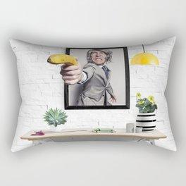 Banana Gun Business Man Rectangular Pillow