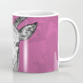 Stag and Butterflies Coffee Mug