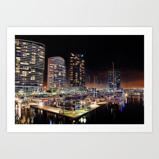 Docklands Art Print
