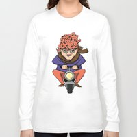 moto Long Sleeve T-shirts featuring Crazy Moto Grandma by Maryanski