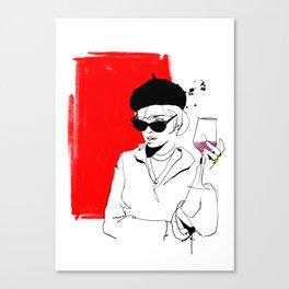 divai nyekundu Canvas Print