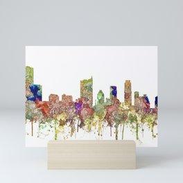 Austin, Texas Skylin SG - Faded Glory Mini Art Print