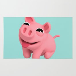 Rosa the Pig Happy Rug