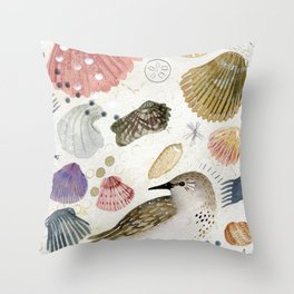 Sand Piper Throw Pillow