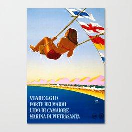 Viareggio Travel Poster Canvas Print