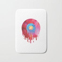 Melting Vinyl Record T Shirt Oldschool Music Graphic DJ Bath Mat