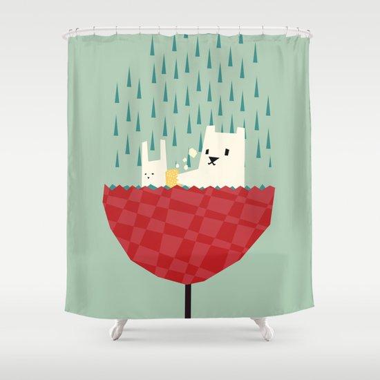 umbrella bath time! Shower Curtain