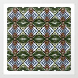 Royal Poinciana Fronds Diamond OP Pattern Art Print