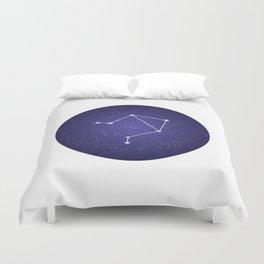 Libra zodiac constellation Duvet Cover