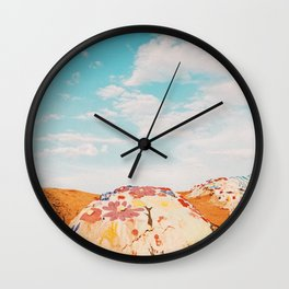 Salvation Mountain, California Wall Clock