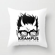 Krampus logo by Dawlism Throw Pillow
