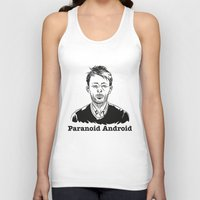 android Tank Tops featuring Paranoid Android by skidsam
