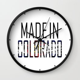 Made In Colorado Wall Clock