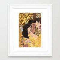 daunt Framed Art Prints featuring Love Unafraid by Daunt