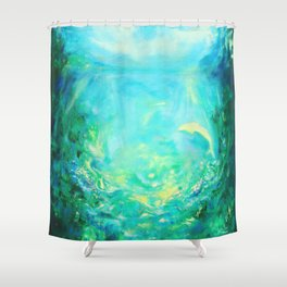 Undersea. Dolphins life Shower Curtain