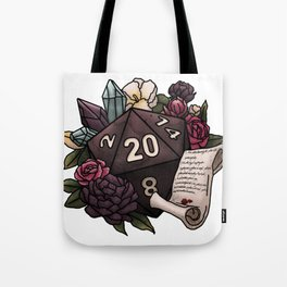Warlock Class D20 - Tabletop Gaming Dice Tote Bag