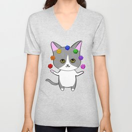 Dorian the Dungeon Meowster Unisex V-Neck