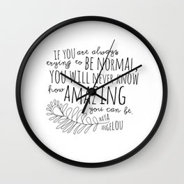 Inspirational Art Print // Maya Angelou Quote // How Amazing You Can Be Typographic Print // Modern Wall Clock