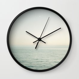 Pismo Beach Moonrise Wall Clock