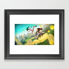 A ride with Son Goku Framed Art Print