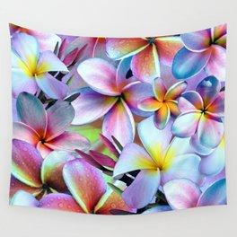 Rainbow Plumeria Wall Tapestry
