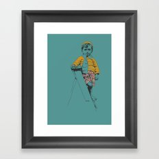 the ladder Boy Framed Art Print