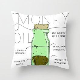 Money Oil - Magic Abundance Potion Throw Pillow