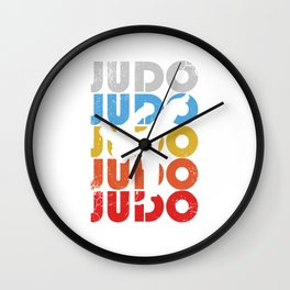 Judo retro. Martial arts fighter funny gifts Wall Clock