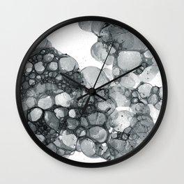 Ink Bubbles Wall Clock