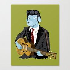 The Rockabilly Dog Canvas Print