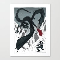 skyrim Canvas Prints featuring SKYRIM by tarmasz