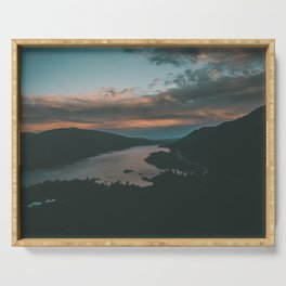 Columbia River Gorge Sunset Serving Tray