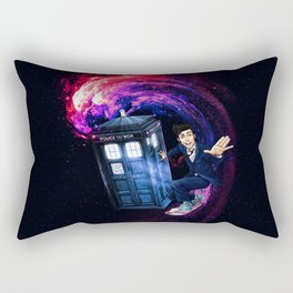 Doctor Who Space Surfing Rectangular Pillow