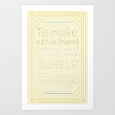 Advice for David Art Print
