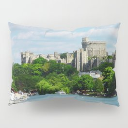 Windsor Castle from the River Thames Pillow Sham