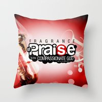 bible verses Throw Pillows featuring Bible Scripture by Azeez Olayinka Gloriousclick