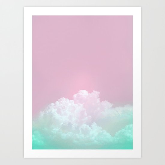 Dreamy Candy Sky Art Print