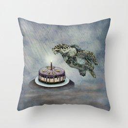 Turtle Birthday Throw Pillow