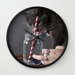 The Fish or The Cat Wall Clock