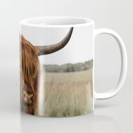 Highland Cow in nature | Wild Scottish Highlander, cattle in the Netherlands | Wild animals | Fine art travel and nature photography art print Coffee Mug